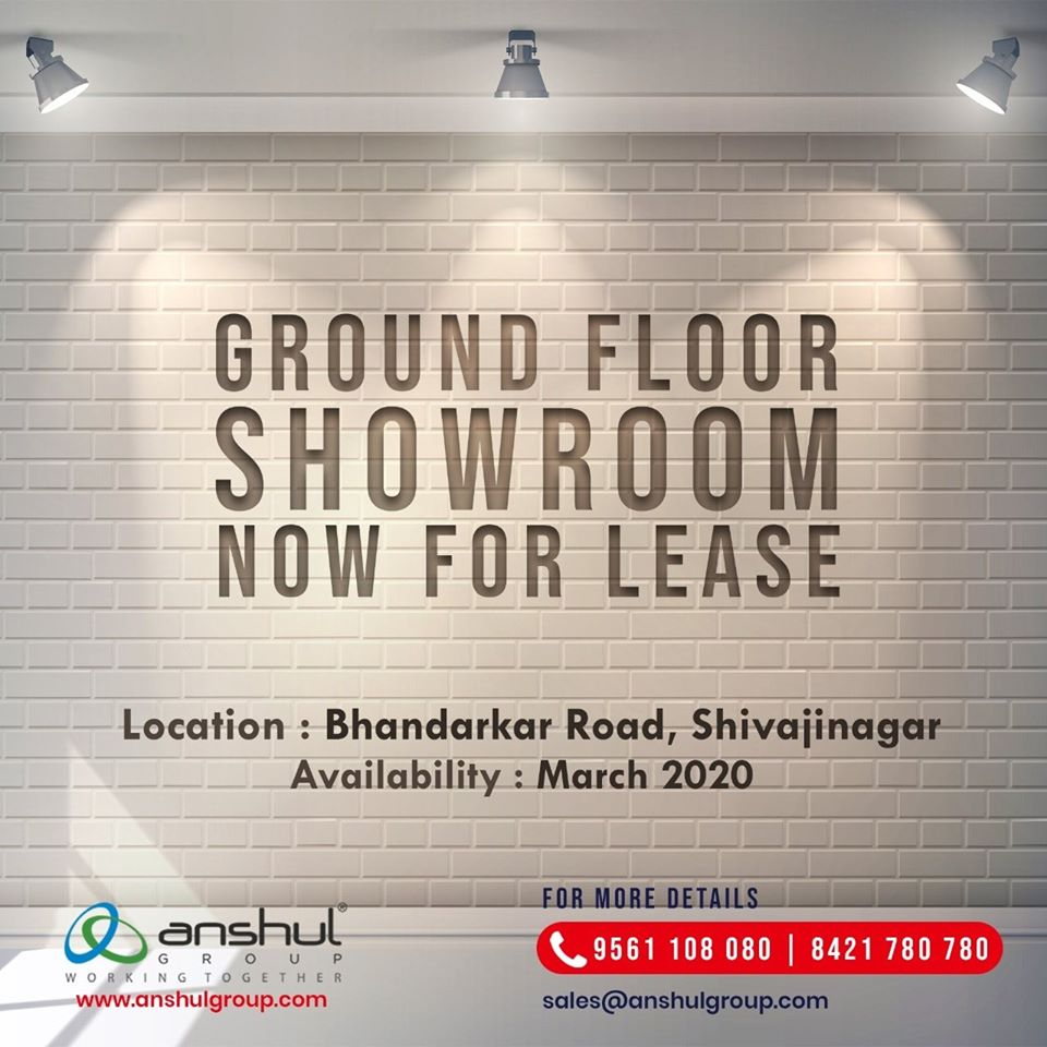 ground floor showroom at bhandarkar road